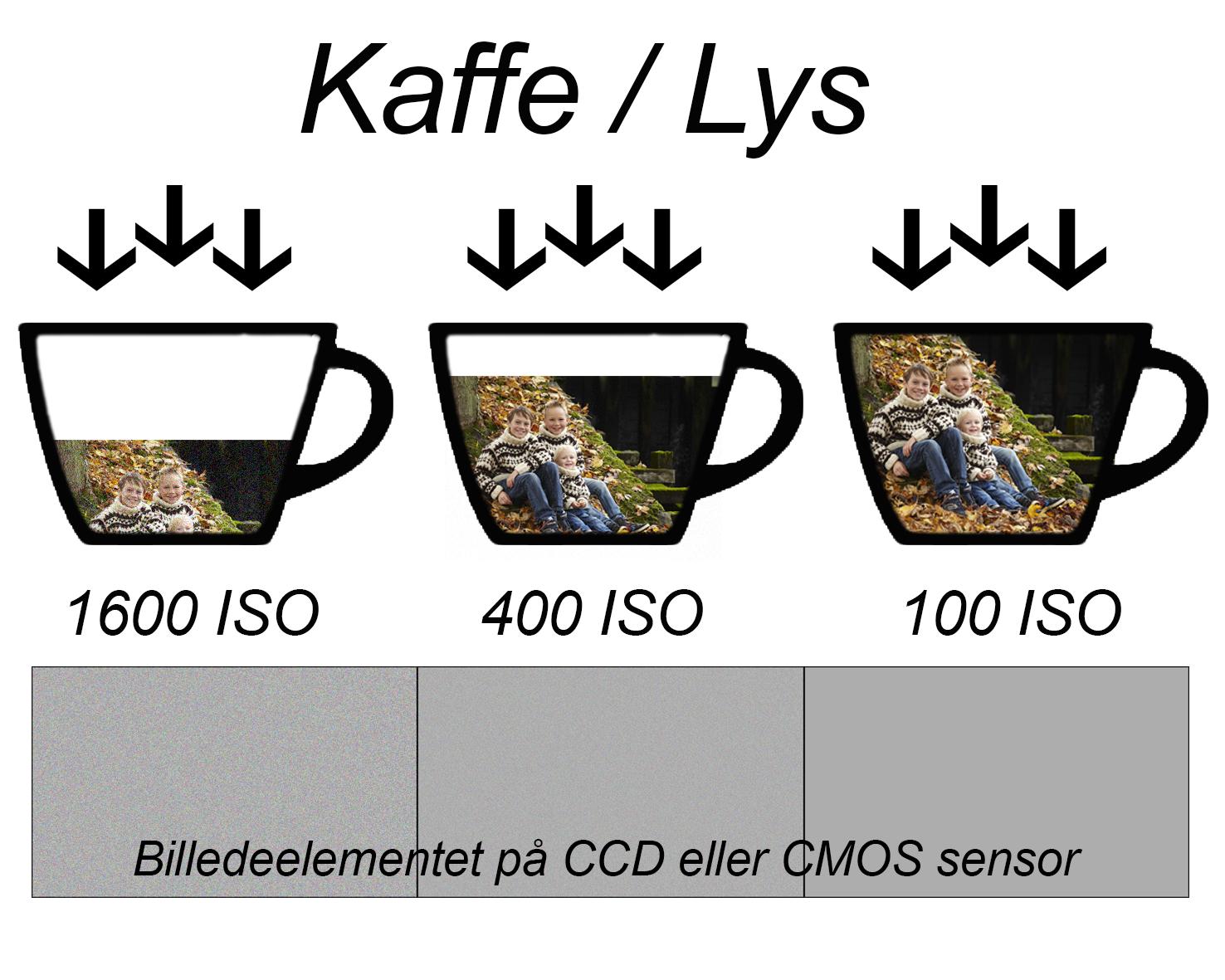 ISO, digital billede støj, korn