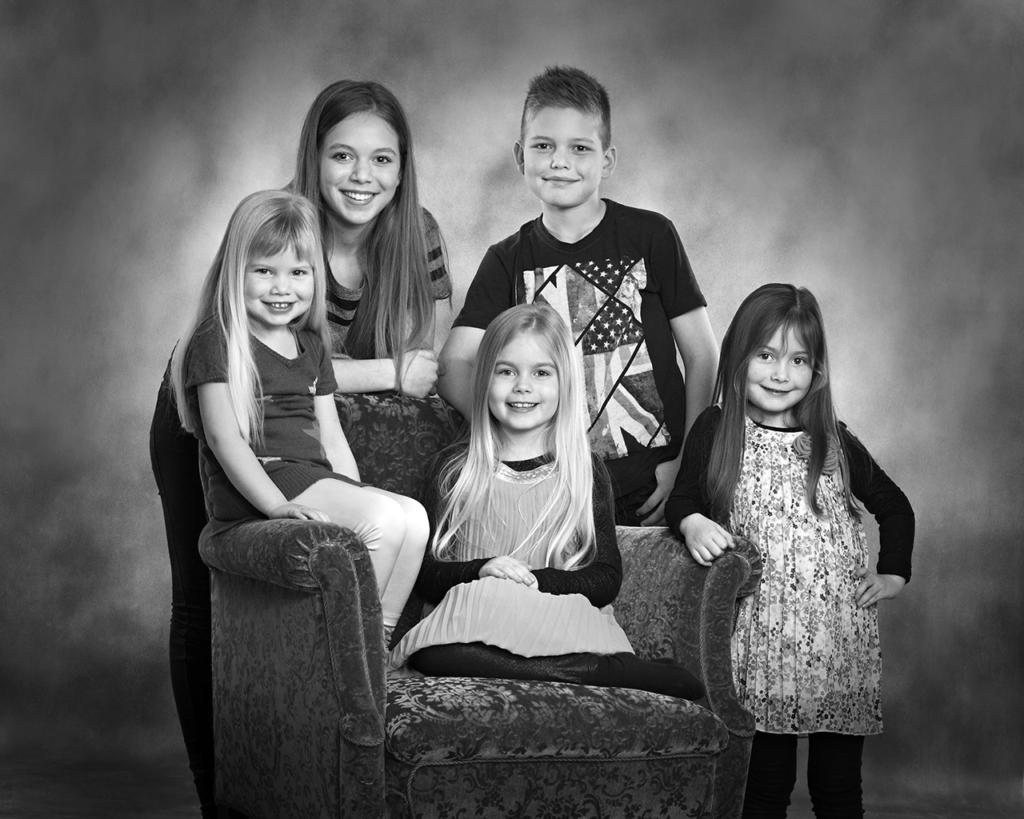 Familie og gruppe billeder, sort/hvid, sølvbryllupsgave, fødselsdagsgave, Søskendebilleder, julegave